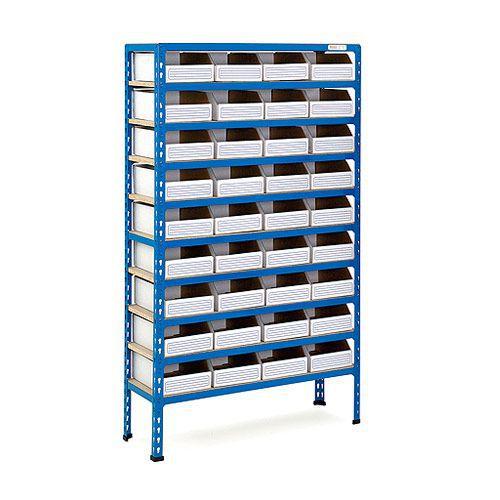 Rapid 2 Shelving (1600h x 915w) 36 Cardboard Picking Bins