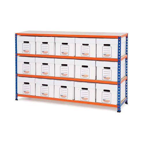 Rapid 2 Storage Bays (990h x 1525w) 15 Economy Document Boxes