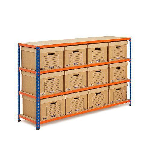 Rapid 2 Storage Bays (990h x 1525w) 12 Document Boxes