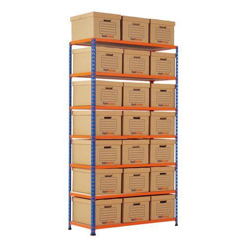 Rapid 2 Single Storage (1980h x 1120w) 21 Brown Document Boxes