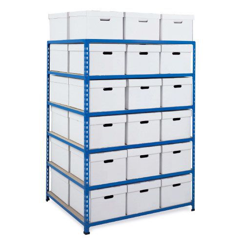 Rapid 2 Double Side Storage (1600h x 1120w) 36 White Document Boxes