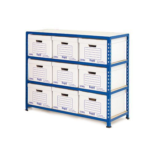 Rapid 2 Storage Bays (990h x 1120w) 9 Document Boxes