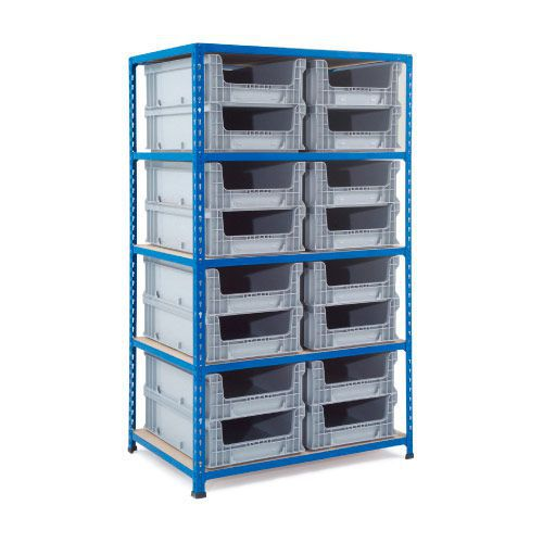 Rapid 2 Shelving (1600h x 915w) 16 Open Fronted Euro Containers