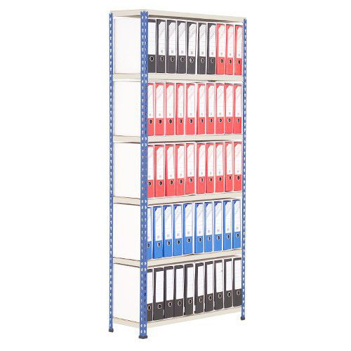 Lever Arch Storage Unit (2172h x 915w) Blue Grey With 100 Foolscap Files