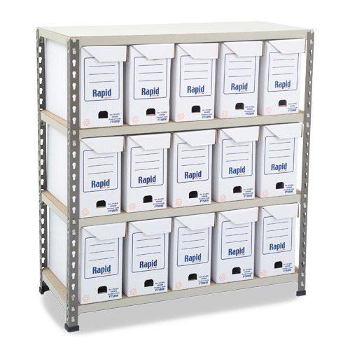 Rapid 2 (990h x 915w) Flip Top Storage Bays With 15 Boxes