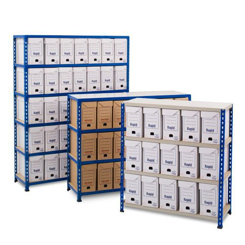 Rapid 2 (1600h x 915w) Flip Top Storage Bays With 25 Boxes