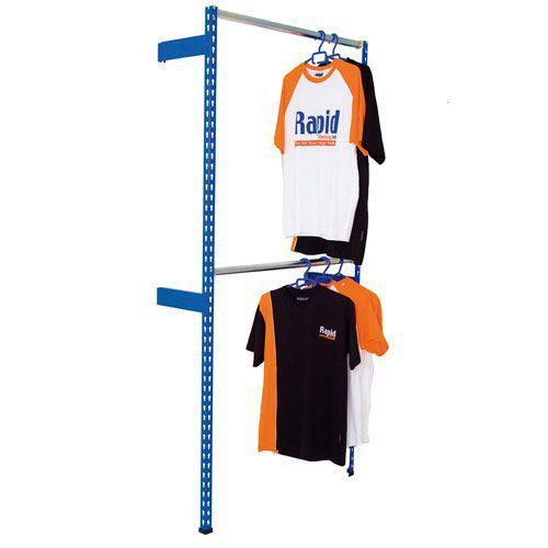 Rapid 2 Wall Fixed Garment Racking (1980h) With 2 Levels