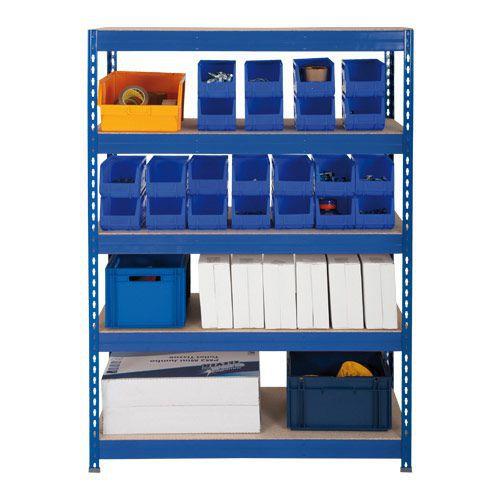 Rapid 3 Shelving (1600h x 900w) Blue - 5 Fibreboard Shelves