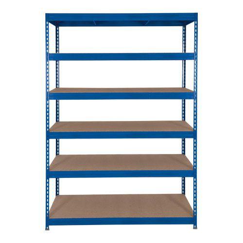 Rapid 3 Shelving (1600h x 1200w) Blue - 6 Fibreboard Shelves