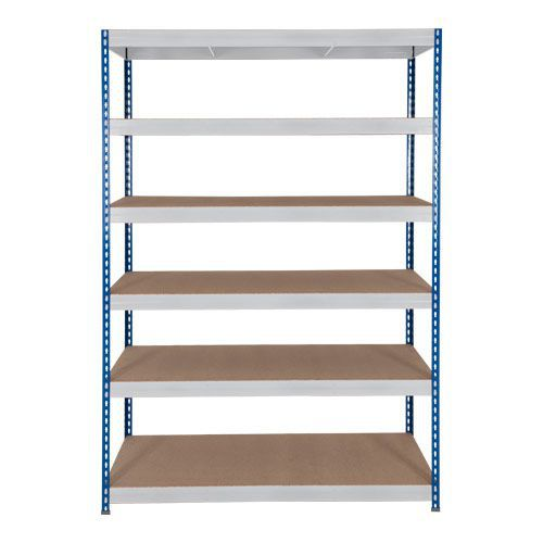 Rapid 3 Shelving (1800h x 1500w) Blue & Grey - 6 Fibreboard Shelves