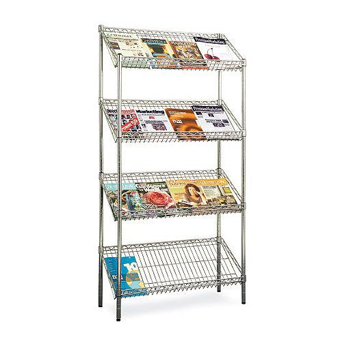 Chrome Literature Display Unit