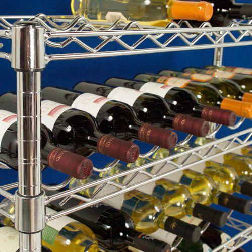Chrome Wine Rack (1270h x 915w) For 63 Bottles