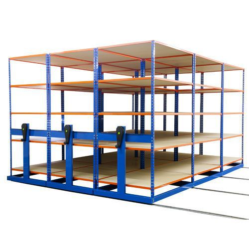 Rapid Mobile Shelving System With 9 Bays Of Rapid 2 (2010h x 4000w x 3760d)