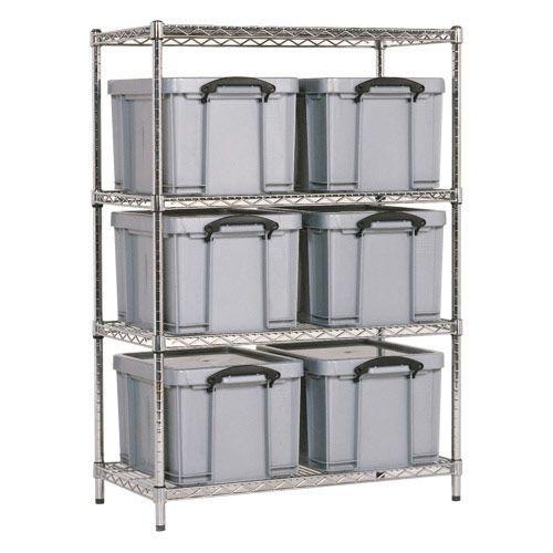 Chrome Shelving - 6 Really Useful Storage Boxes