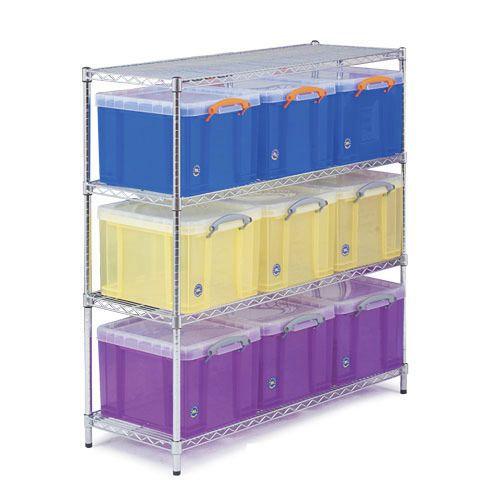 Chrome Shelving - 9 Really Useful Storage Boxes