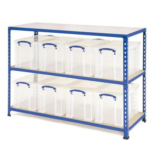 Rapid 2 Shelving (915h x 1220w) 8 x 24 Litre Really Useful Boxes
