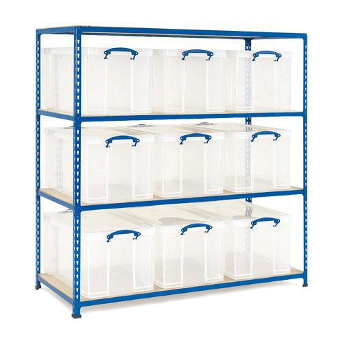 Rapid 2 Storage Bay (1600h x 1525w) With 9 x 84 Litre Really Useful Boxes