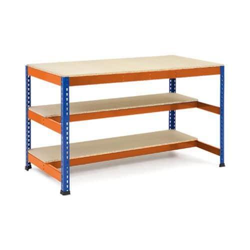 Rapid 1 Heavy Duty Workbench (1220w) with Lower Level Half Shelves