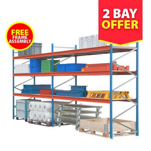 2 Bay (2000h) Wide Span Shelving Offer
