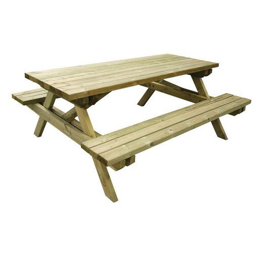 Pine Picnic Table - Manutan