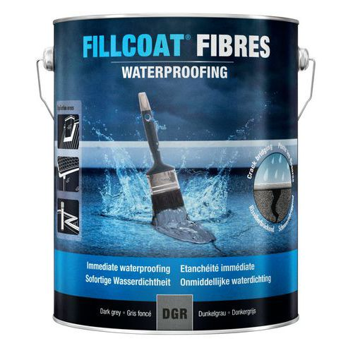 Fibre-reinforced waterproof repair compound for all types of roof, dark grey - Rust-Oleum