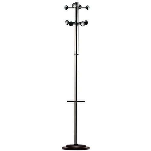 Chrome coat rack with adjustable umbrella stand - Reception area