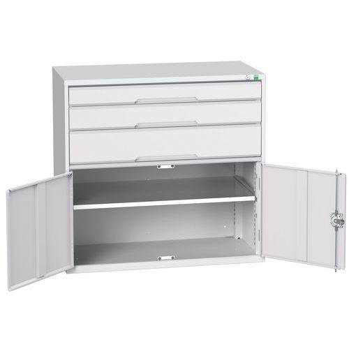 Bott Verso 1 Shelf Multi-Drawer Combined Metal Tool Cabinet 1000x1050mm