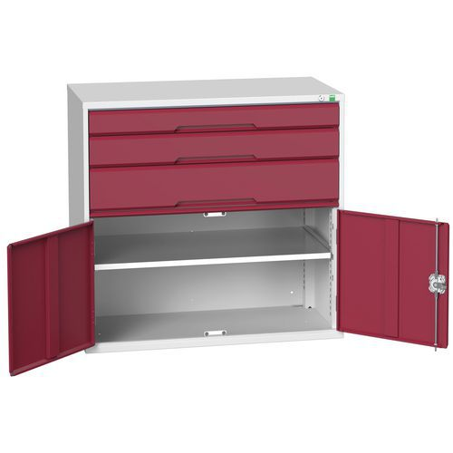 Bott Verso 1 Shelf Multi-Drawer Combined Metal Tool Cabinet 1000x1050mm