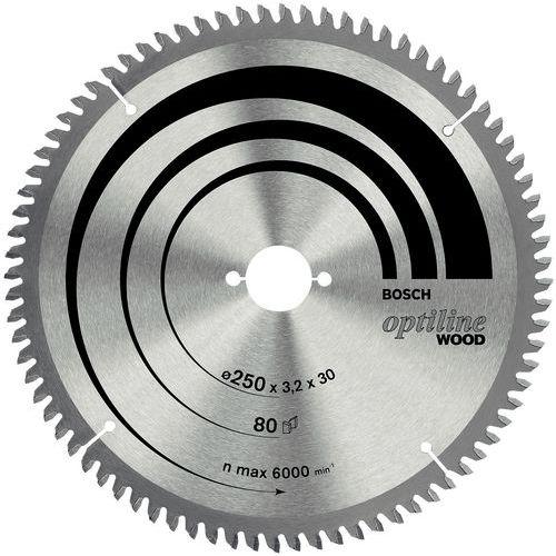 Optiline Wood radial tab saw blade - Ø 216 mm - Reaming Ø 30 mm