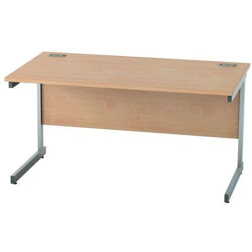 Straight Cantilever Home/Office Desk - Satellite