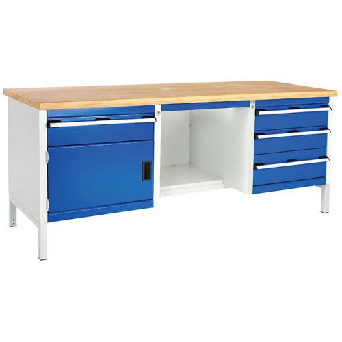 Bott Cubio Heavy Duty Workbench with 4 Drawers & 1 Cupboard