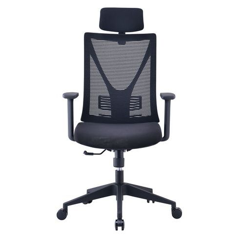 Mesh office chair with adjustable armrests