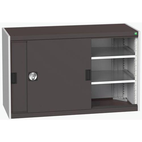 Bott Cubio Sliding Door Metal Storage Cabinet HxW 800x1300mm