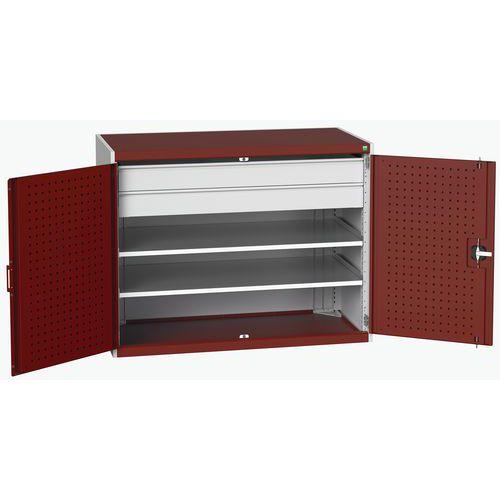 Bott Cubio Heavy Duty Cupboard With Perfo Storage Doors 1000x1300x650mm