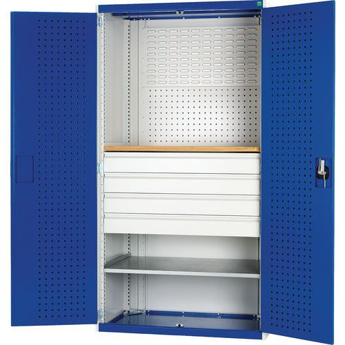 Bott Cubio Perfo/Louvre Storage Backed Workshop Cupboard WxD 1050x650mm