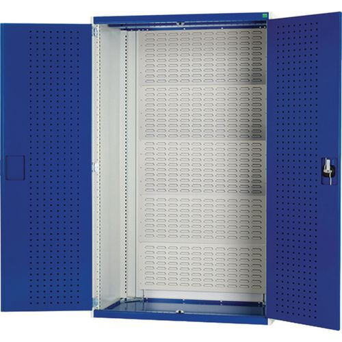 Bott Cubio Louvre Backed Cabinet With Perfo Storage Doors 1200x1050x650mm
