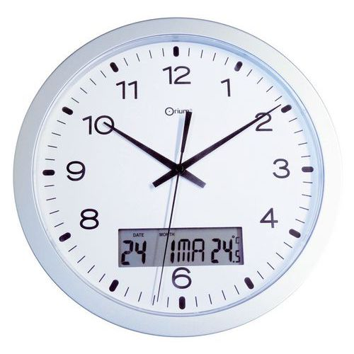 Quartz wall clock with an LCD screen