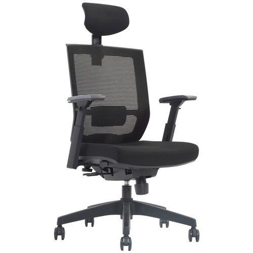 Drayton Mesh Back Ergonomic Office Chair with Headrest