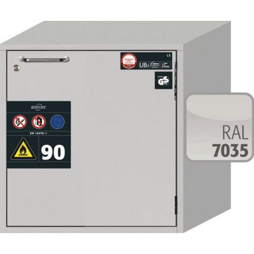 Asecos 90min Fire Resistant Flammable Mobile Cabinet 600x593mm