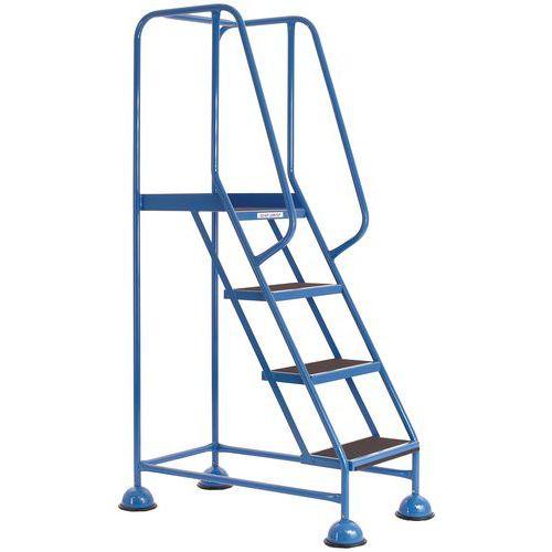 Blue Mobile Platform Warehouse Steps