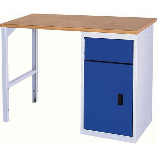 Bott Verso Industrial Workbench With Drawer & Cupboard 150kg UDL Capacity