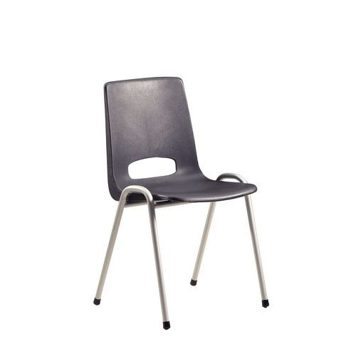 Stackable Plastic Chairs - Grey
