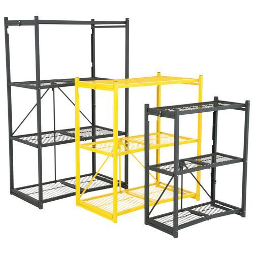 Amazon.com: Origami 3-Shelf General Purpose Collapsible/Foldable Shelving  Unit, Small Rack with Wheels | Organizer, Rolling Cart, Home Kitchen  Laundry Closet Storage, Metal Wire, Pre-Assembled | Black: Home Improvement | 500x500