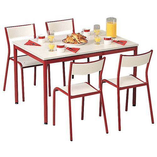 Sets of chairs and rectangular table - Laminated top - 6 seats