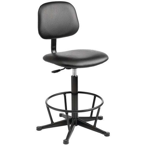 Industrial Foot Ring Workshop Chair