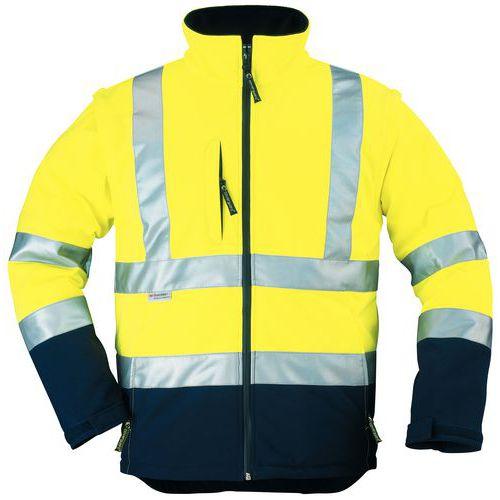 High-visibility softshell work vest