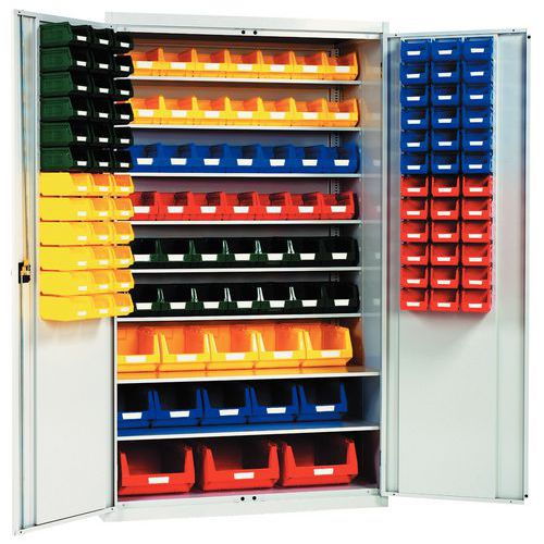 Reinforced cupboard with picking bins - Tall - Adapted doors
