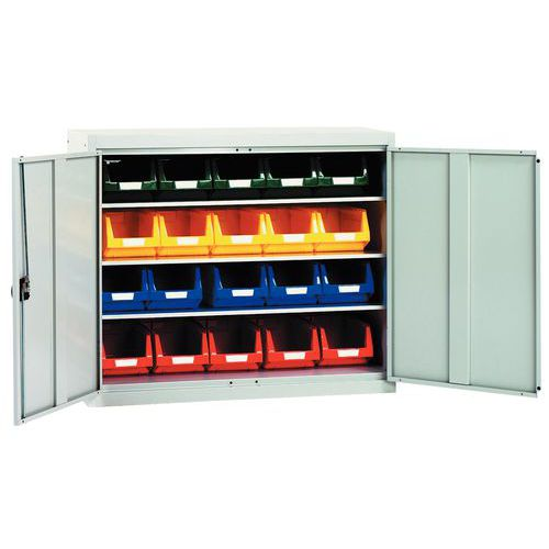 Reinforced cabinet with picking bins - Low - Plain doors