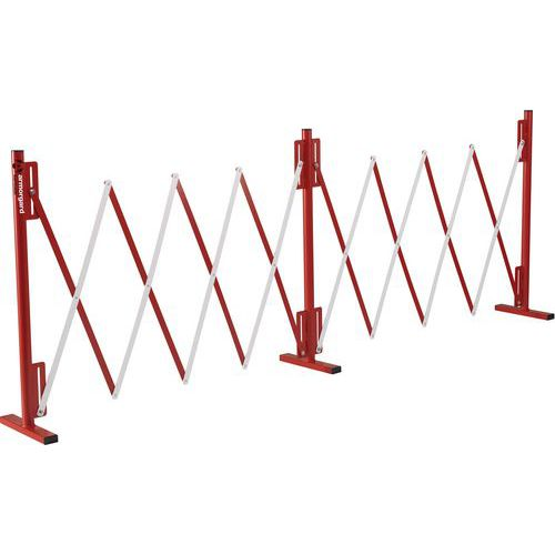Armorgard Expandable Safety Barrier In Red And white
