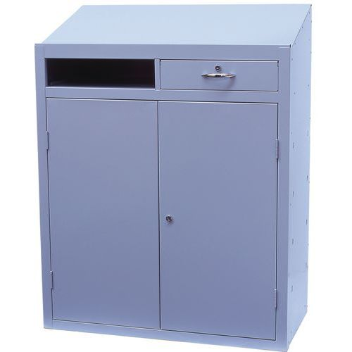 Metal Anti-Bacterial Workstation Cabinet - Single Drawer 1200x915x457mm